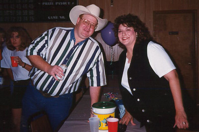 Michael and Kelly. Celebrating Cindy Kane's August 6th birthday, Denison, Texas, August 10, 1998
