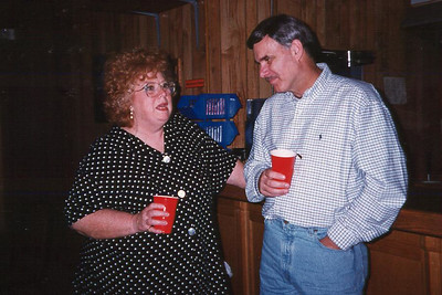 Myra and Shorty. Celebrating Cindy Kane's August 6th birthday, Denison, Texas, August 10, 1998