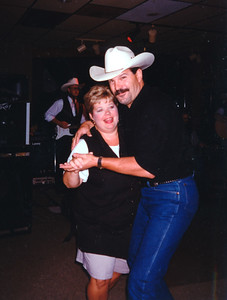 Cindy Kane and Tim Quintana. Celebrating Cindy Kane's August 6th birthday, Denison, Texas, August 10, 1998