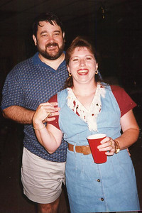 John and Tracy. Celebrating Cindy Kane's August 6th birthday, Denison, Texas, August 10, 1998