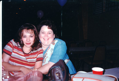 Jamie Cole and Kathy. Celebrating Cindy Kane's August 6th birthday, Denison, Texas, August 10, 1998