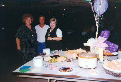 Myra, Russ and Cindy. Celebrating Cindy Kane's August 6th birthday, Denison, Texas, August 10, 1998
