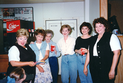 Cindy, Bettianne, Daruthye, Cheryl, Becky Cole and Kelly. Celebrating Cindy Kane's August 6th birthday, Denison, Texas, August 10, 1998