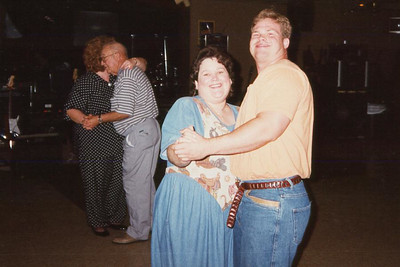 Kathy Kane and Blake Vardell. Celebrating Cindy Kane's August 6th birthday, Denison, Texas, August 10, 1998