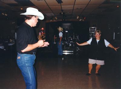 Tim Quintana and Cindy Kane. Celebrating Cindy Kane's August 6th birthday, Denison, Texas, August 10, 1998