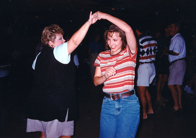 Cindy Kane and Jamie Cole. Celebrating Cindy Kane's August 6th birthday, Denison, Texas, August 10, 1998