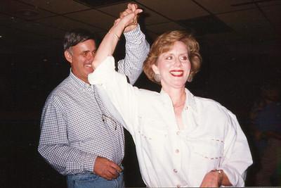 Shorty and Cheryl. Celebrating Cindy Kane's August 6th birthday, Denison, Texas, August 10, 1998