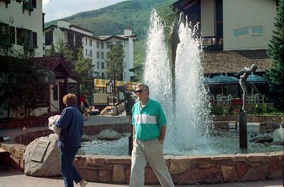 Paul and Tina Stewart, Vail, Colorado, late July 1990