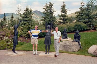 Grady Kane and Paul Stewart, Vail, Colorado, late July 1990