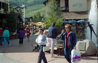 Mary Clare Kane and Tina Stewart, Vail, Colorado, late July 1990