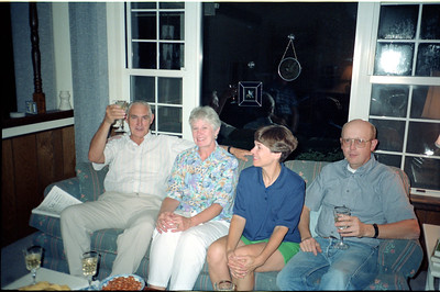 Bill and Karen Hammond, and Leta and Jim Olson, June 1990