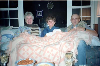 Karen Hammond, Leta and Jim Olson, June 1990