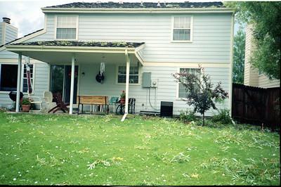 Hail at Grady & Mary Clare Kane's house on E. Costilla Circle, Centenial, Colorado, June 1990