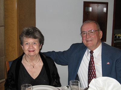 Panama Canal Cruise, Friday, Feb 3rd, on board Galaxy.  Orion Restaurant, Deck 5, Aft.  First Formal Dining night - Arnie and Sue Cardinal.