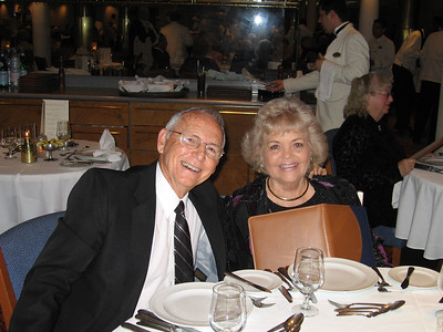 Panama Canal Cruise, Friday, Feb 3rd, on board Galaxy.  Orion Restaurant, Deck 5, Aft.  First Formal Dining night - Richard and Margaret Moody.