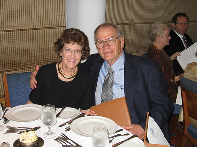 Panama Canal Cruise, Friday, Feb 3rd, on board Galaxy.  Orion Restaurant, Deck 5, Aft.  First Formal Dining night - J.C. and Peggy McCampbell.