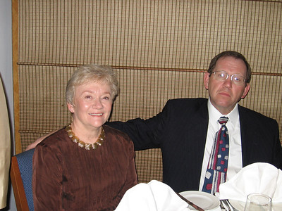 Panama Canal Cruise, Friday, Feb 3rd, on board Galaxy.  Orion Restaurant, Deck 5, Aft.  First Formal Dining night - Don and Pat Benz.