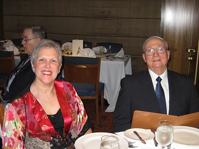 Panama Canal Cruise, Friday, Feb 3rd, on board Galaxy.  Orion Restaurant, Deck 5, Aft.  First Formal Dining night - Gerald and Ruth Drew.