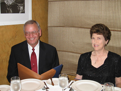 Panama Canal Cruise, Friday, Feb 3rd, on board Galaxy.  Orion Restaurant, Deck 5, Aft.  First Formal Dining night - Mal and Judy Crews.