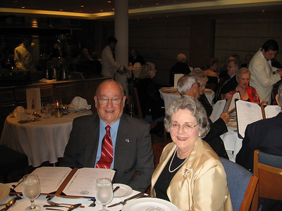 Panama Canal Cruise, Friday, Feb 3rd, on board Galaxy.  Orion Restaurant, Deck 5, Aft.  First Formal Dining night - Grady and Mary Clare Kane.
