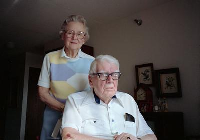 Mayme and John Galligan, Saint Paul, Minnesota, ca. September 1988