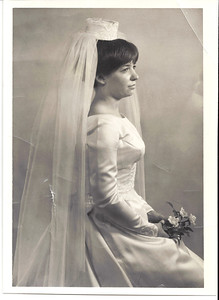 My mom, Sharon, on her wedding day.