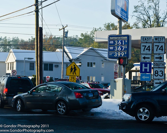The gas lines were incredible, reminiscent of the energy crisis of the 1970's.
