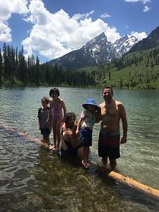 swimming in String Lake; Grand Tetons NP