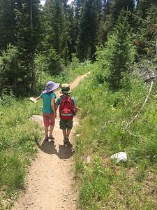 Hiking around String Lake; Grand Tetons NP