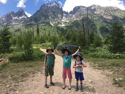 Hiking around String Lake; Grand Tetons NP