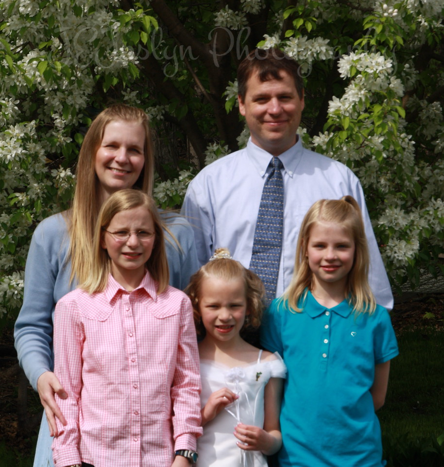 GD-3 1st Communion, family, Mom, Dad, and P and G. 4-25-2010