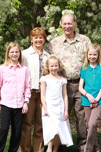 GD-3 1st Communion and Grandma JK and Grandpa PK, and her two sisters.  4-25-2010