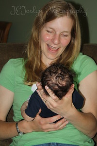 RJ-Homecoming party, 6-13-09, born May 9, 2009, with Katie