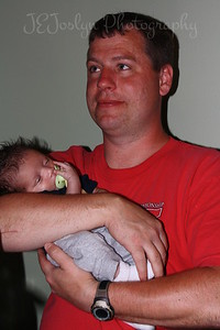 RJ-Homecoming party, 6-13-09, born May 9, 2009, this is Uncle Matt