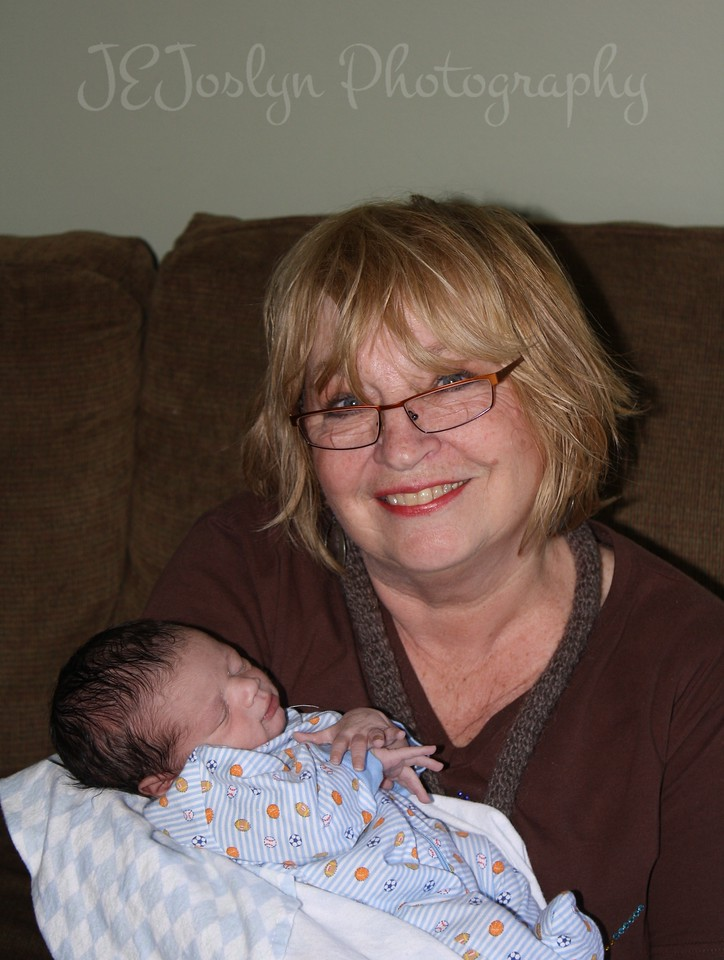 RJ and me - visiting with him at 1 week old, born May 9, 2009.
