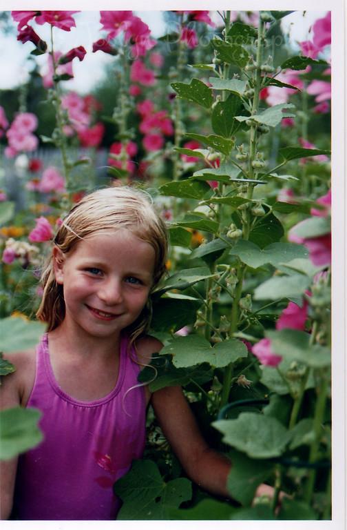 GD P-7.5, pretending to be garden flower in Grandma Hat's garden, August, 2006.
