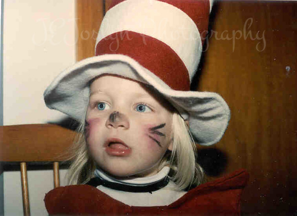 Halloween - cat in the hat, two years old.