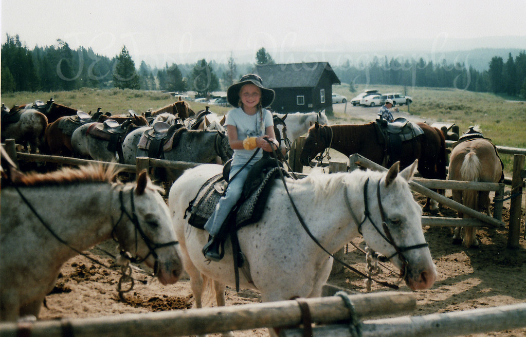 My granddaughter got to take this ride too, she loved it, her horse behaved, and she got to be the first horse behind the lead rangler, 2007 Yellowstone trip.  What a day!
