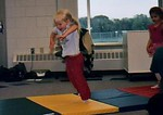 C 3 1/2 years old at Tumbling Class, summer, 2005.
