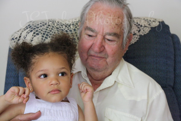 Dad (aka Grandpa Allen Killmer SR), and Great Granddaughter Rylee (number 13 of 15) - 6-21-09