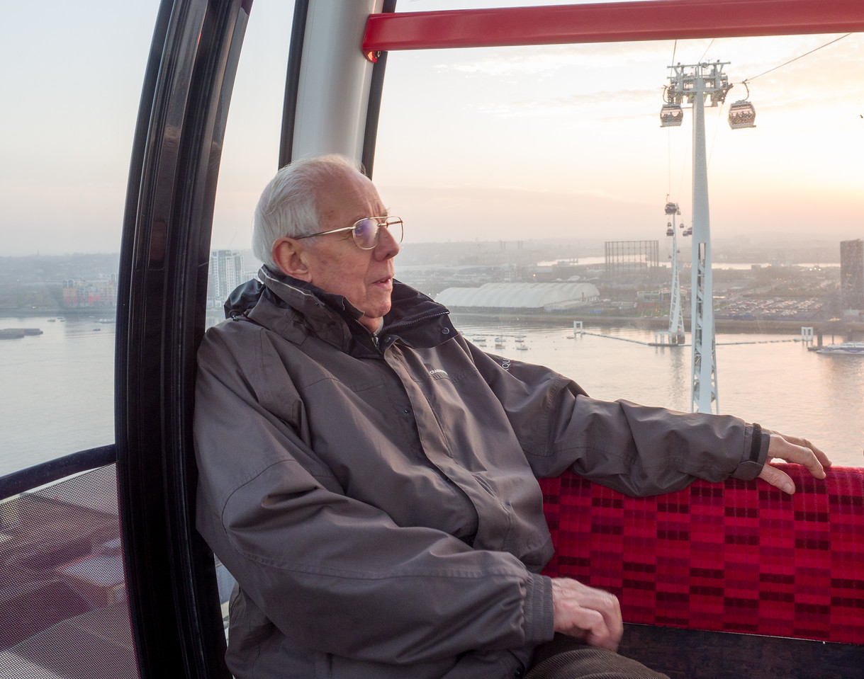 Brian on the Emirate's Cable Car