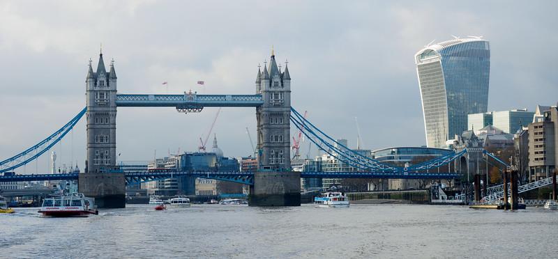 Tower Bridge and the Walkie-Talkie