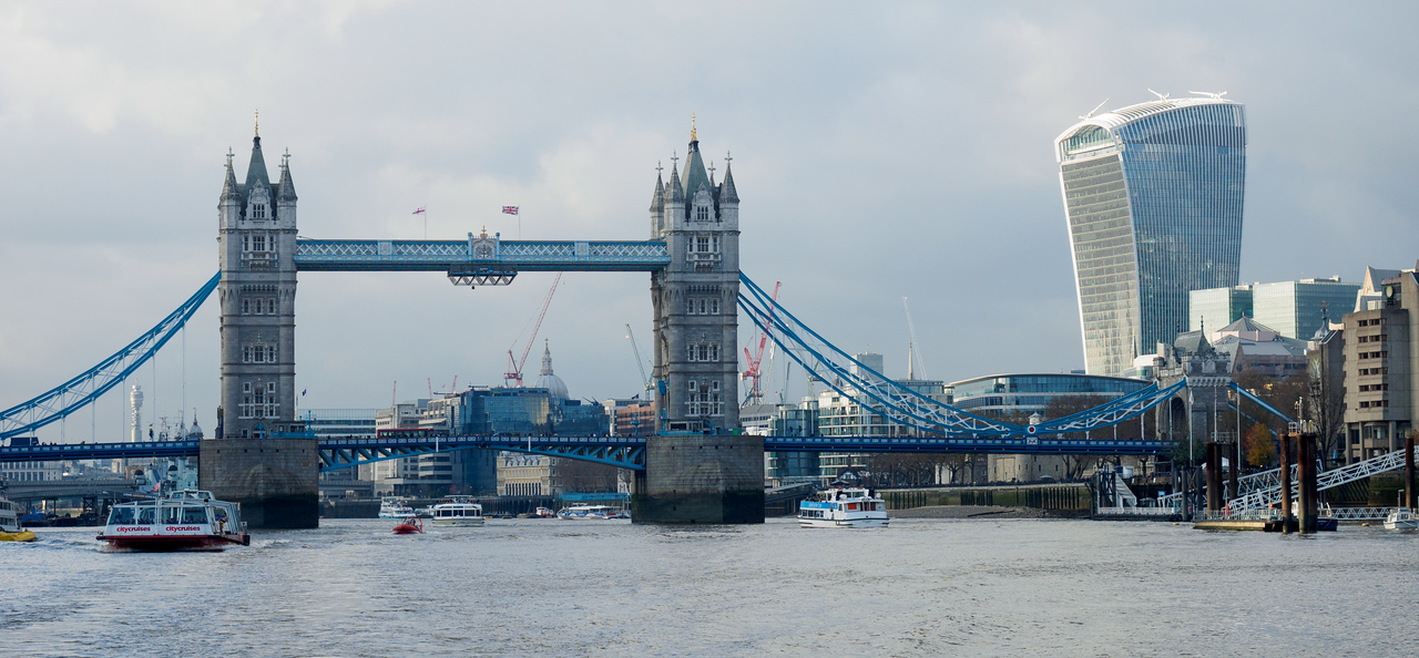 Tower Bridge and the Walkie-Talkie