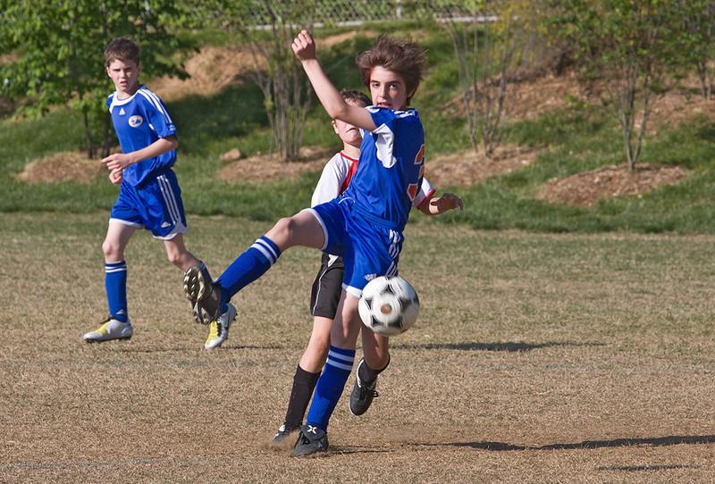 Noah's soccer game, 5-4-08