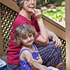 Chloe and Grandma, Hollin Hills, 5-22-09.