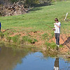April 10, 2010:  Noah & Sam, fishing at farm.