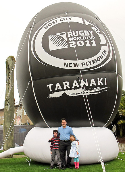 New Plymouth, September 11, 2011.  New Zealand hosted the Rugby World Cup matches at various locations, including New Plymouth.