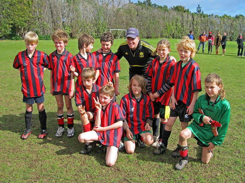 Eli's soccer team, August 27, 2011.