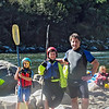 Dan, Eli and Chloe on weekend kayak trip, April 7.  This and follow six photos sent by Dan.