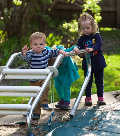 Grandkids at Grandma Kathy's House - April 28, 2015